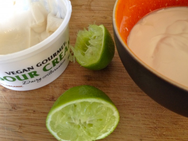 Vegan Sour Cream and Lime Juice