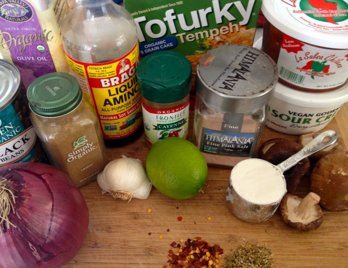 Vegan Taco Pie Filling Ingredients