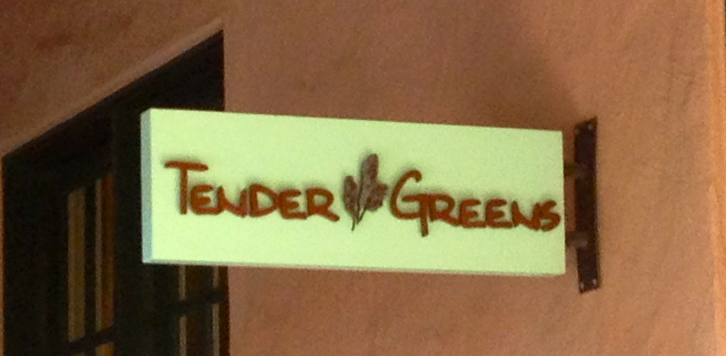 Tender Greens Sign