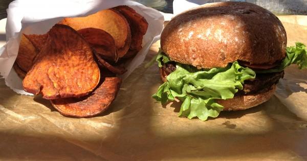 Evolution Vegan Burger and Fries