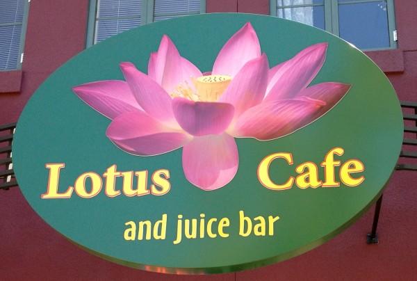 Lotus Cafe and Juice Bar Sign