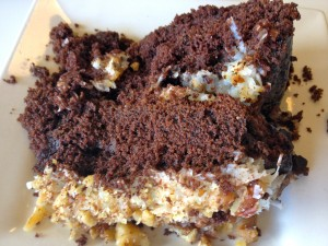 German Chocolate Cake Piece
