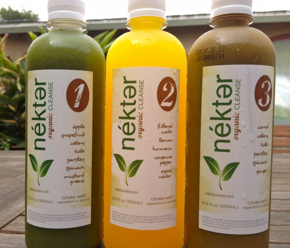 Nekter Organic Juice Cleanse, Bottles 1-3