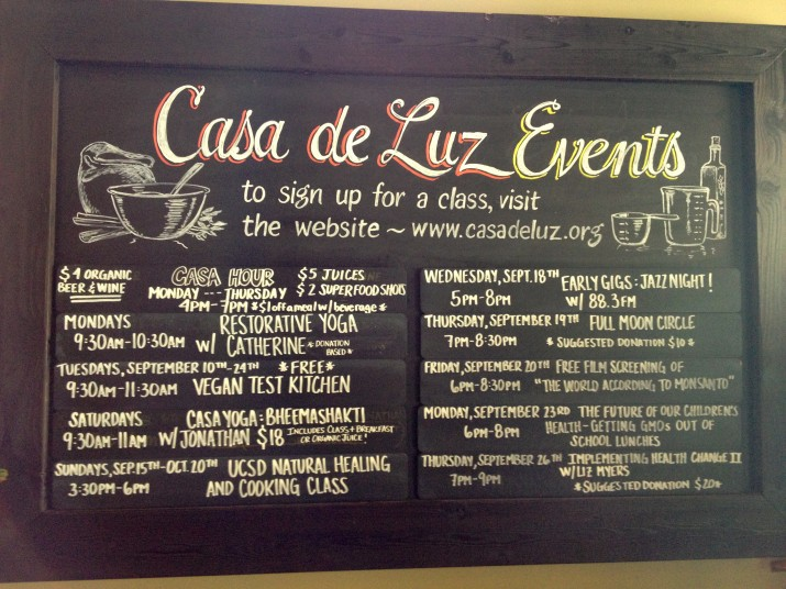 Casa de Luz Calendar of Events