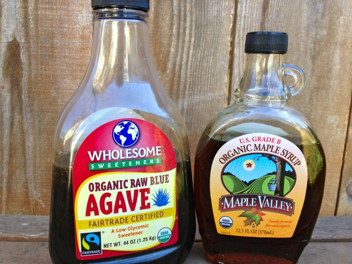 Agave and Maple Syrup