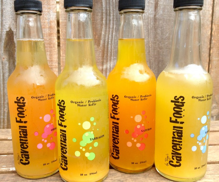 Caveman Foods Water Kefir Drinks Lined Up