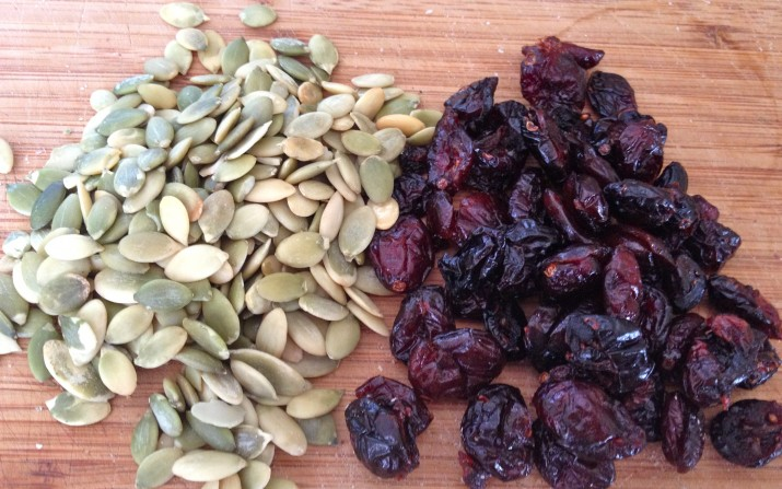 Pumpkin Seeds and Dried Cranberries