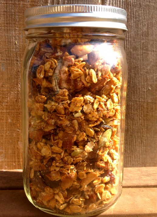 Vegan Granola in Mason Jar