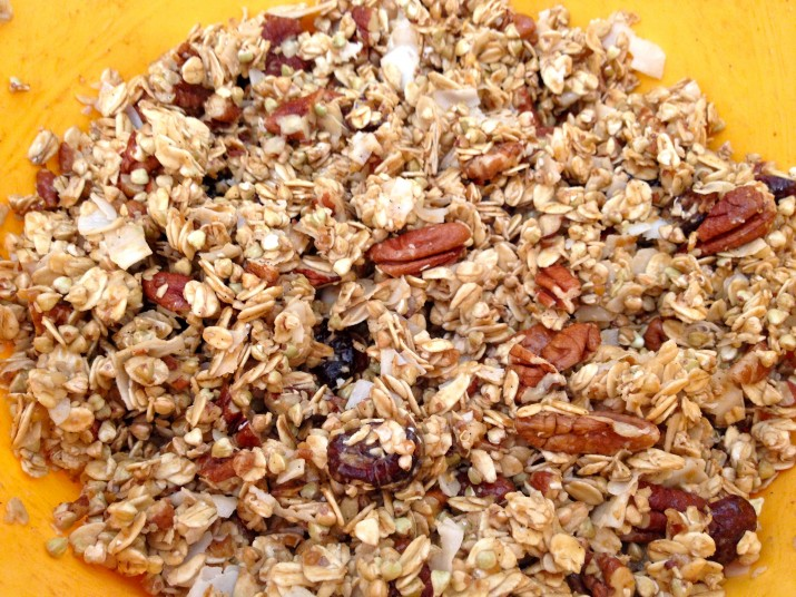 Granola Mixed Together