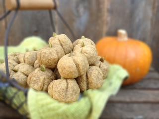 Pumpkin Butter Cookies in Basket