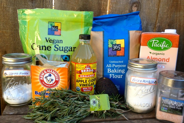 Vegan Rosemary Quick Bread Ingredients