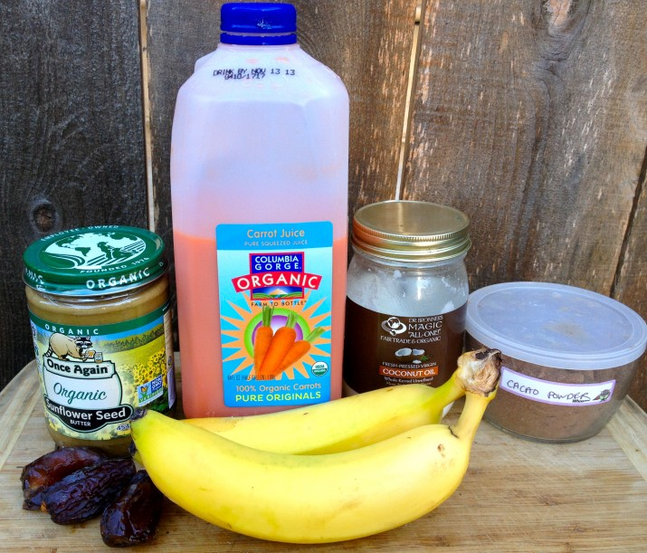 Sunflower Butter Smoothie Ingredients