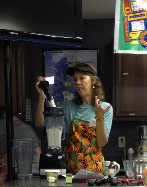 Tracy making cashew cream