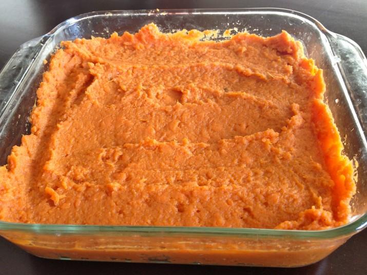 Sweet Potato Casserole Base Layer