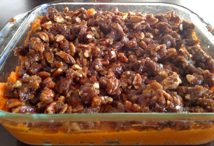 Sweet Potato Casserole Layered