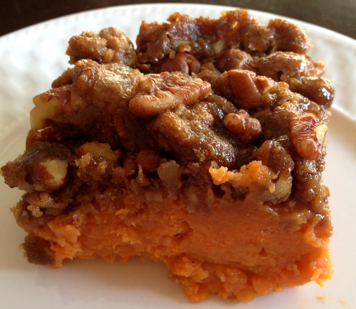 Piece of Sweet Potato Casserole