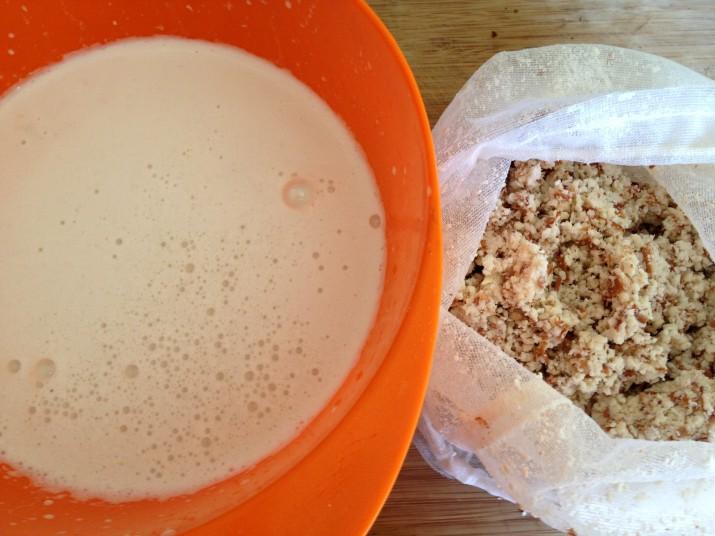 Almond Milk with Almond Pulp
