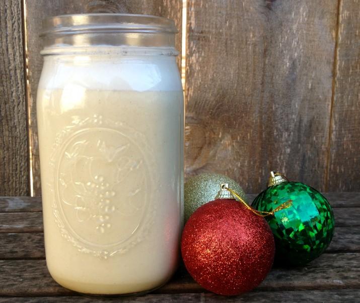 Eggnog in Mason Jar