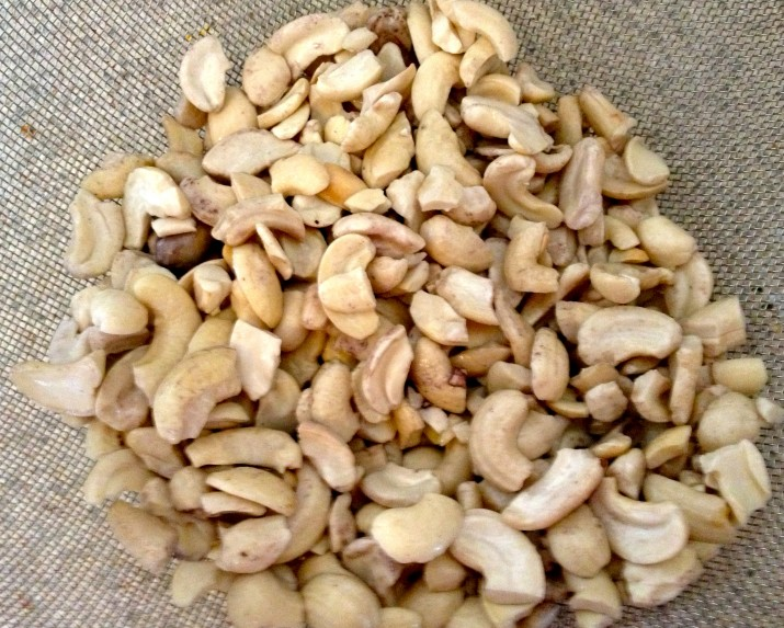 Cashews in Strainer