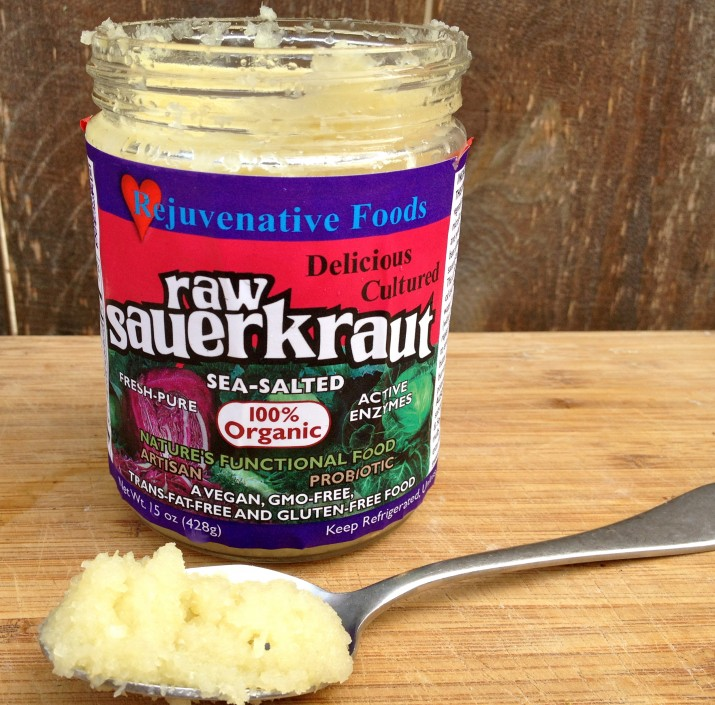 Rejuvenative Foods Raw Sauerkraut on Spoon