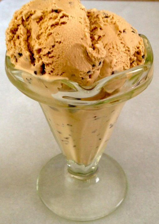 Mocha Maca in Ice Cream Glass