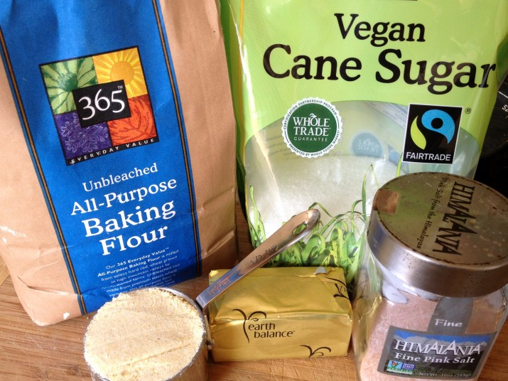 Vegan Cornmeal Crust Ingredients