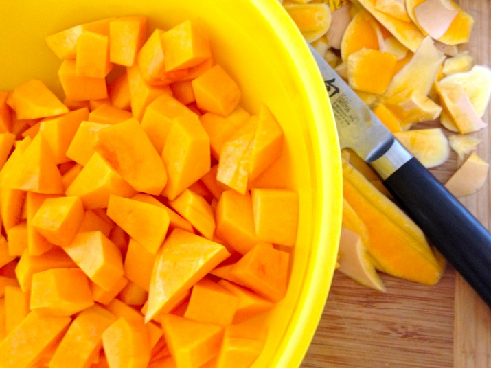 Butternut Squash Pieces in Bowl