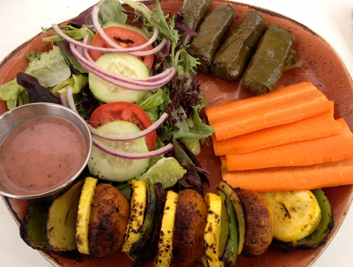 Veggie Platter and Salad