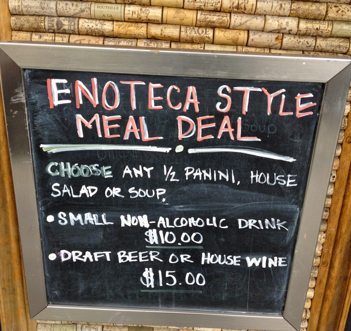 Enoteca Style Lunch Special