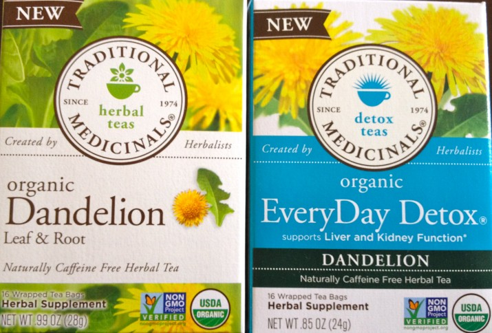 Traditional Medicinals Dandelion Teas