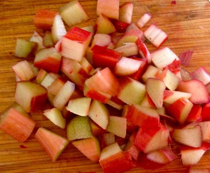 Freshly Cut Rhubarb