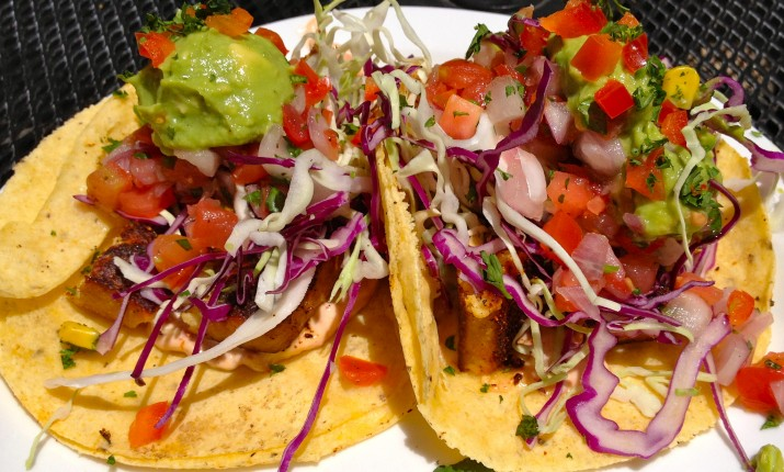 Vegan Baja Blackened Tacos