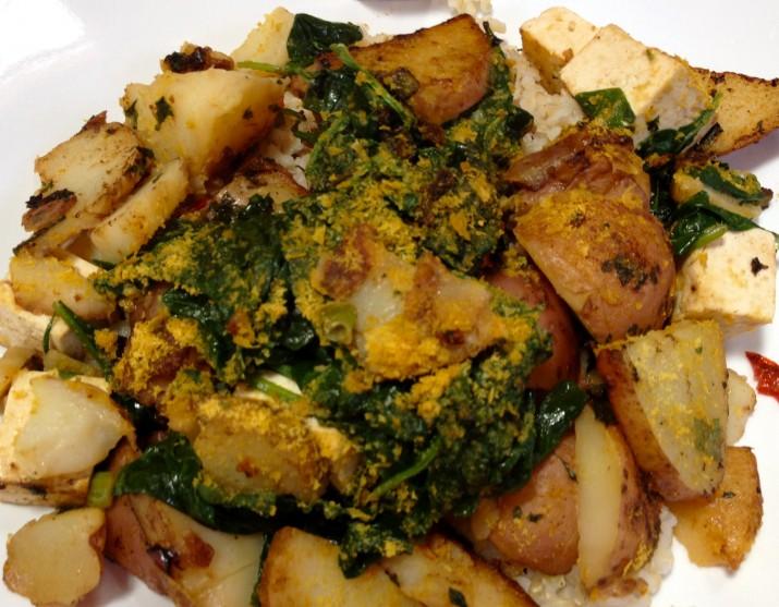 Vegan Spinach and Tofu
