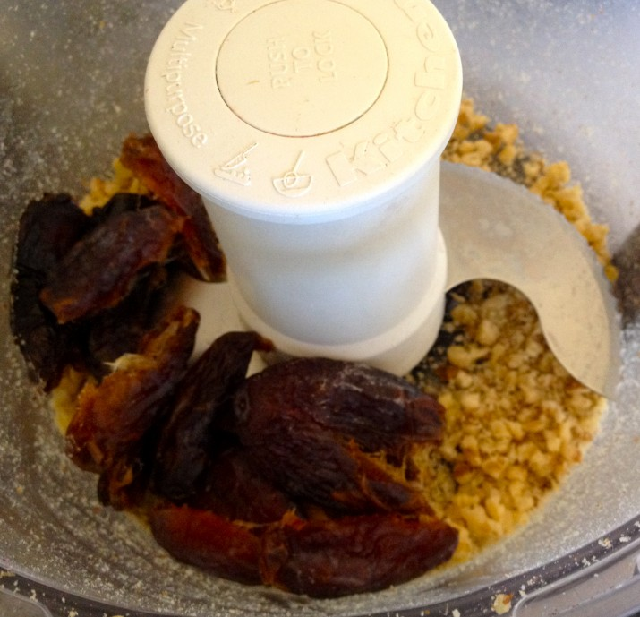 Adding Dates to Food Processor