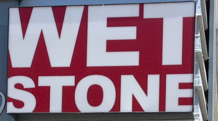 Wet Stone Sign