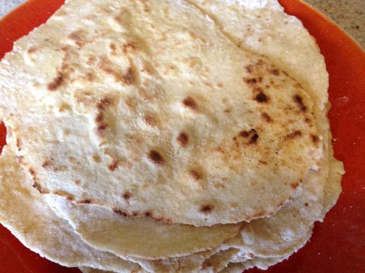 Stack of Vegan Spelt Tortillas