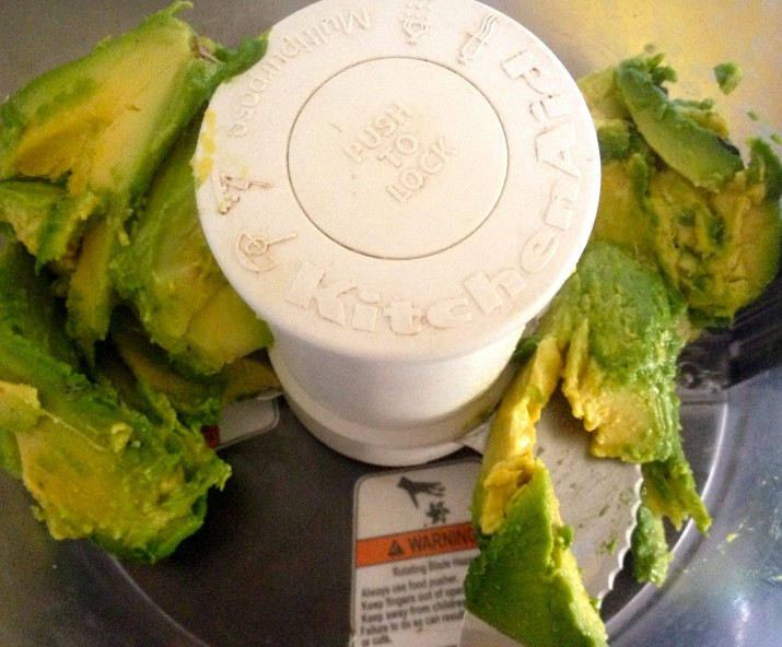 Avocado in Food Processor