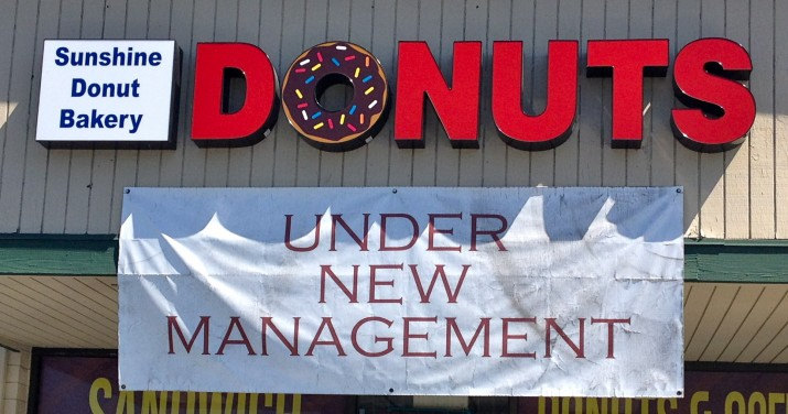 Old Donut Panic Sign