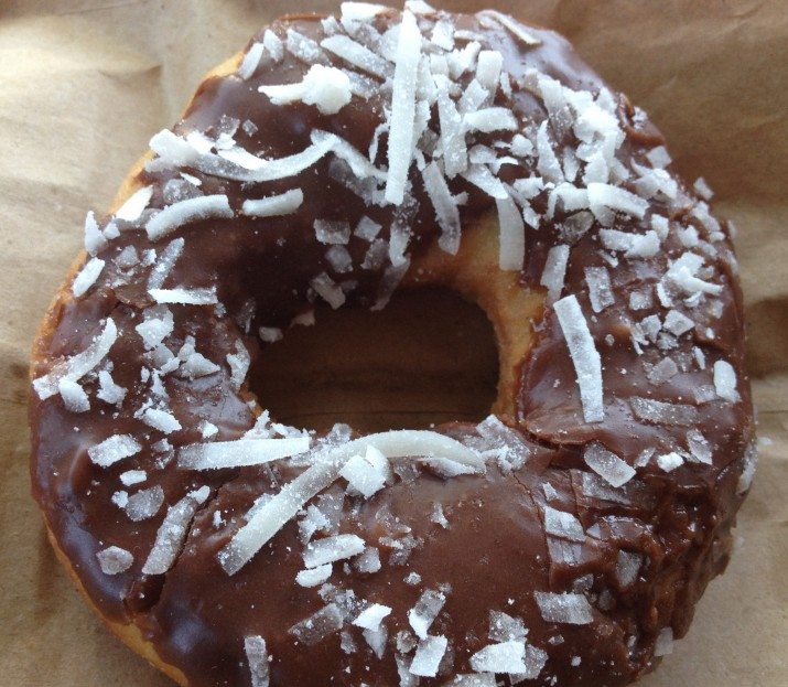 Vegan Chocolate with Coconut Donut