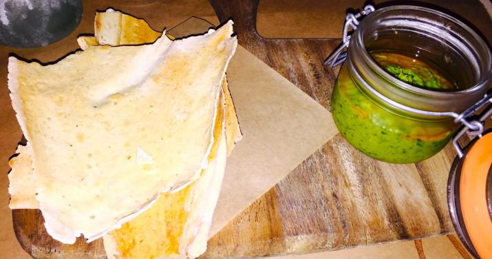 Edamame Hummus and Pita