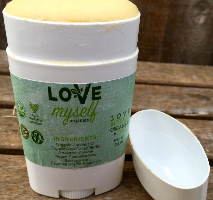 Love Myself Organics Unscented Deodorant