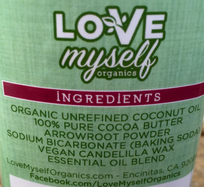 Love Myself Organics Deodorant Ingredients