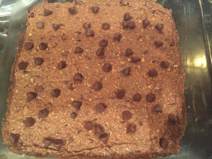 Pan of Vegan Black Bean Brownies
